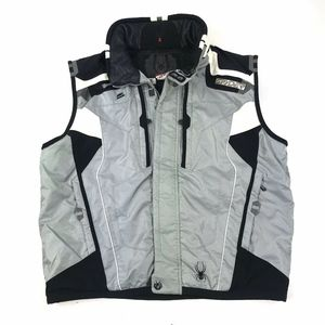 Spyder Black Grey Full Zip Insulated Snow Vest XXL